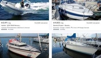 Boatflex har 300 private båter til utleie på nett.