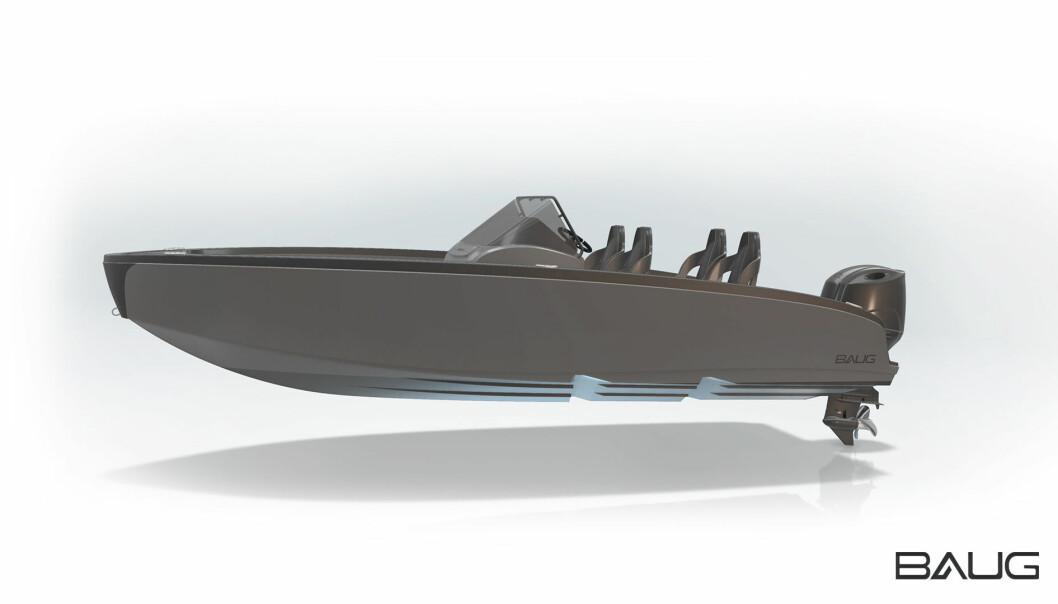 NY NORSK: BAUG Tjueen er en ny norsk skjærgårdsjeep som skal sjøsettes i Måløy i mai. (ILLUSTRASJON: BAUG BOATS).