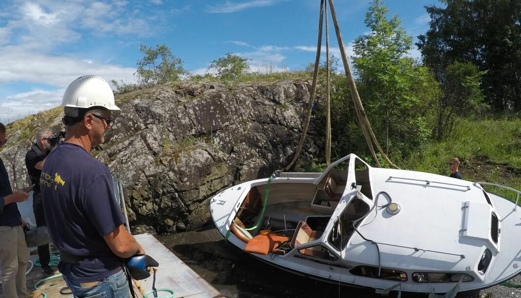 LETTVINT: Lettere å overlate vraket til det offentlige enn å håndtere det selv, sier en oppgitt Kjetil Svelland i Kambo Marine som i 2020 samlet inn 260 tonn båtvrak fra Oslofjorden. FOTO: BJØRN HEIDENSTRØM