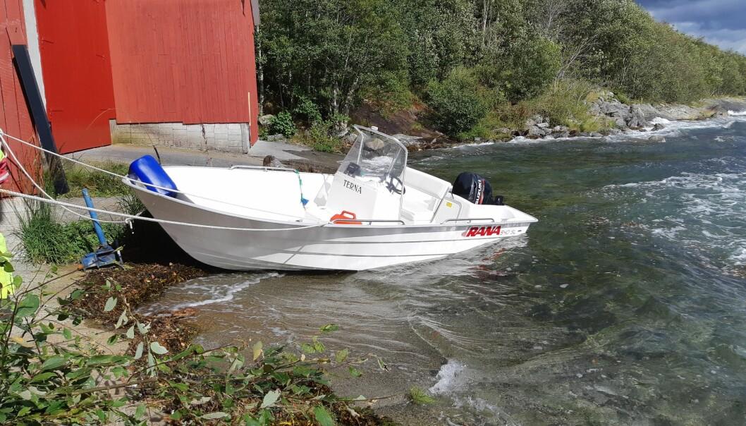 SKREMMENDE: Snarrådighet gjorde at Daniel Storeide fikk båten til land da bunnen sprakk.