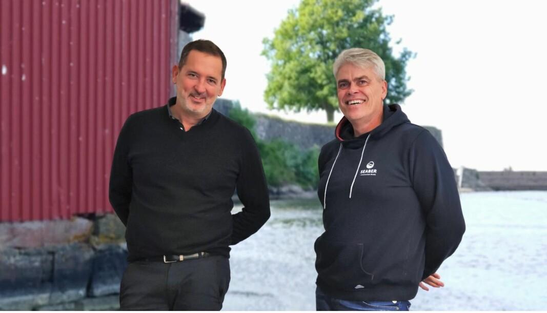SAMARBEID: Kelly Moulton i Sensar Marine og Trond Erik Bognø i Seaber (til høyre) har innledet samarbeid om å integrere løsningene i sine apper.