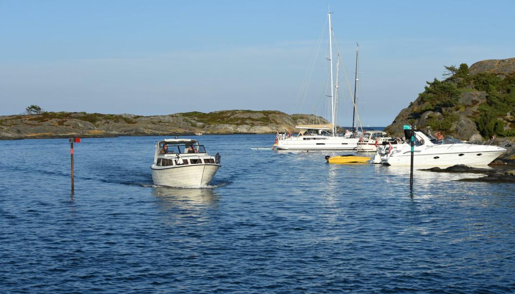 MERKET: Innseilingen mellom Ytre Maløya og Hampholmen er godt merket og dybden er rundt seks meter.