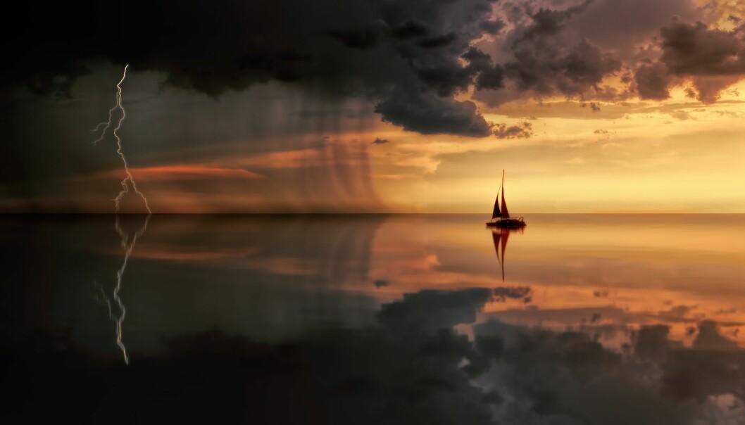 OVERTRO: Været har spilt en viktig rolle med overtro til sjøs gjennom historien.