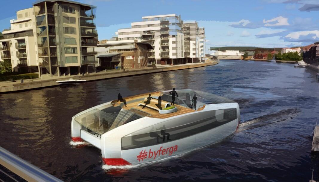 SELVKJØRENDE: Hydrolift er i startgropa med sin nye generasjon selvkjørende elektriske ferger.