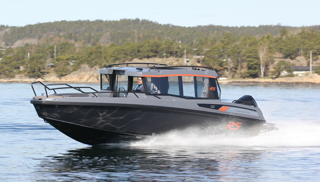 NYHET: Nordkapp RS 800 C er den første styrhusbåten med aluminiumskrog fra Nordkapp.