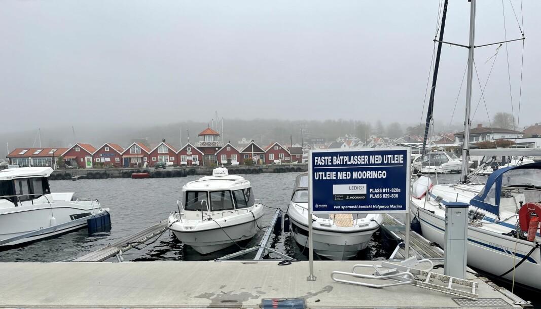 UTLEIE: Via appen Mooringo kan man få oversikt over ledige, private båtplasser som lånes eller leies ut.