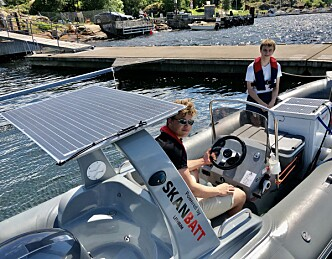 Handelskar på 17 møter båtfolket med kiosk-RIB