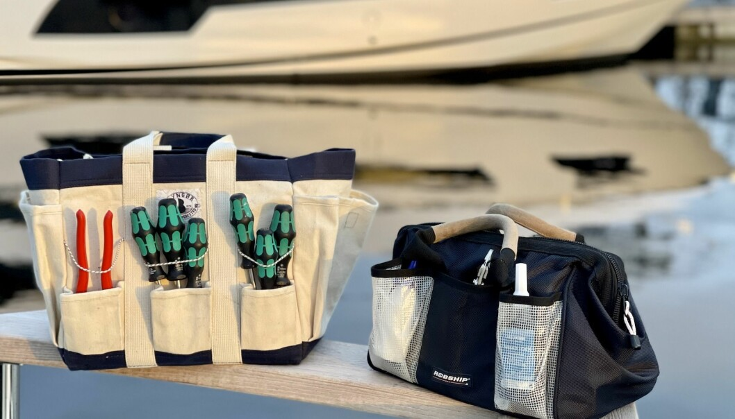 BRA BAGER: En tekstilbag er etter vår erfaring den beste oppbevaringsløsningen for verktøy ombord.