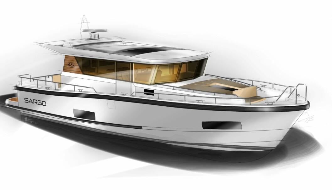 NESTE HØST: I 2022 sjøsetter finske Sargo, tidligere Minor, sin hittil største modell på 45 fot.