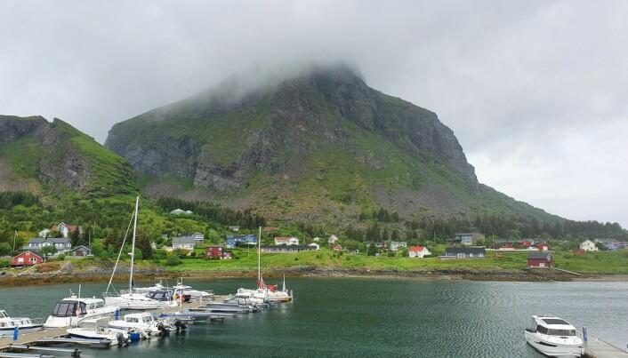 GJESTEHAVN: Lovund Båtforenings gjestehavnen ligger sør på øya.
