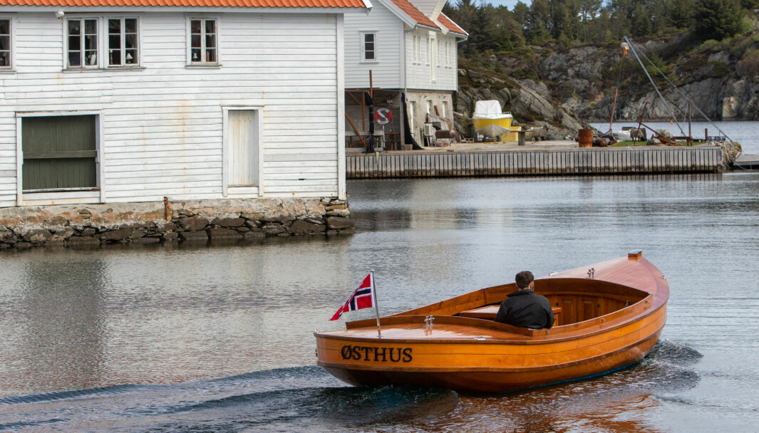 SELVBYGD: Hans Inge Østhus bygde sin egen kutter.