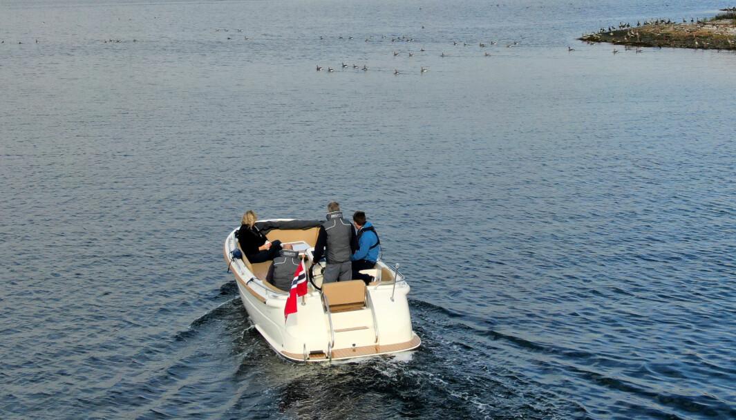 FORTSATT MOMS: Svært få politikere går inn i valget med ønske om å frita elbåter for moms slik elbiler får i dag. Foto: Jørn Finsrud.
