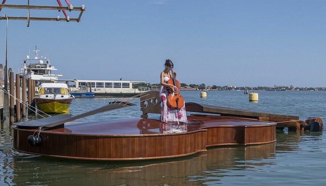 Fiolin sjøsatt sist fredag i Venezia