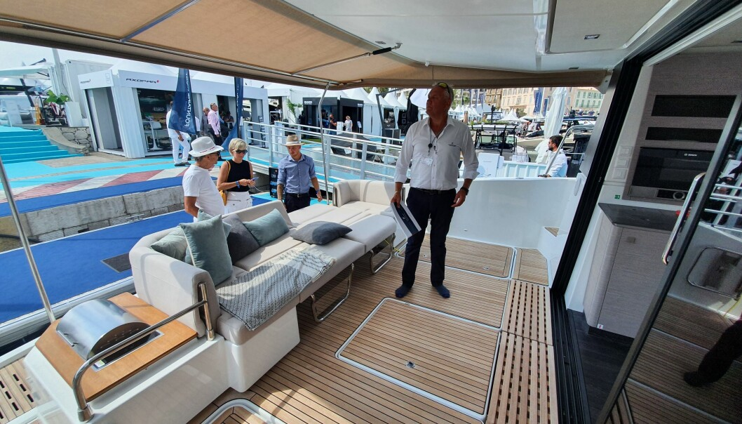 MARKED: Det er selgers marked i båtbransjen. Jarle Grytli i ScanCat kan ikke levere enkelte modeller før om et par år.