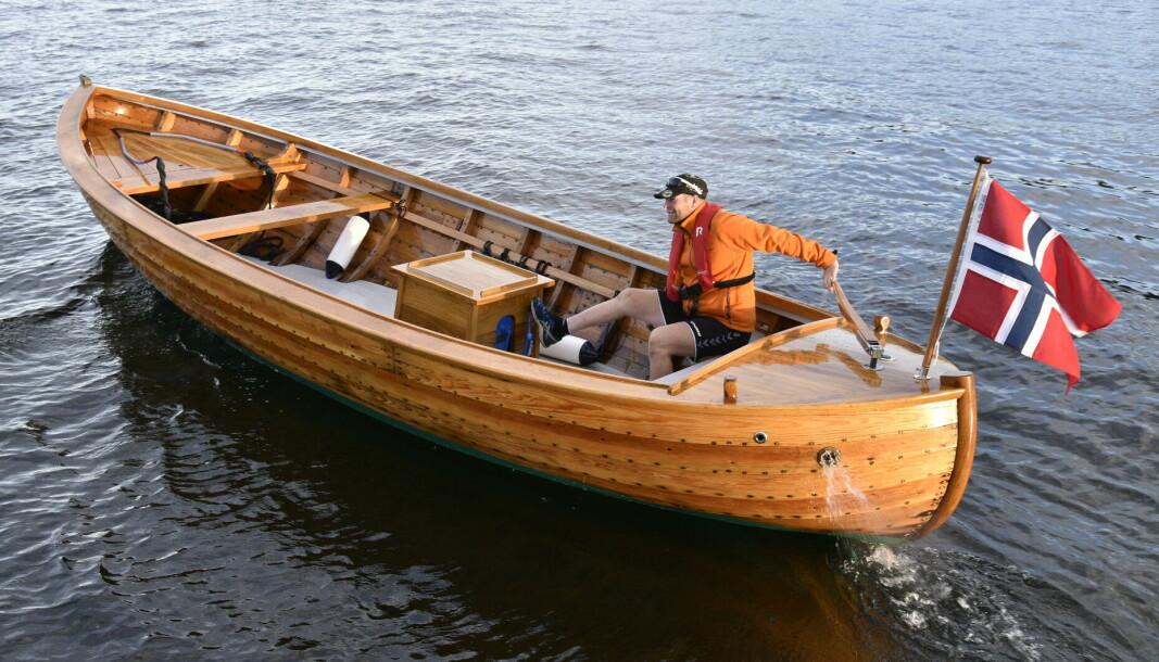WIKSTEN: Den 23,5 fot lange koggen er et typisk eksemplar av Wiksten-båtene fra 1960-tallet.