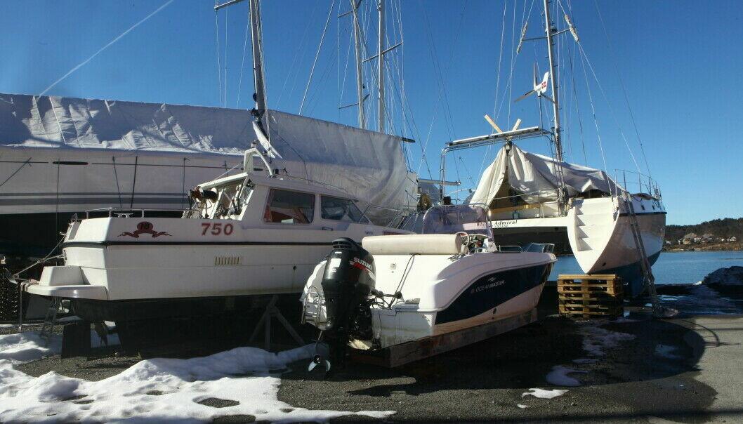 Pass på båten i vinterhalvåret.